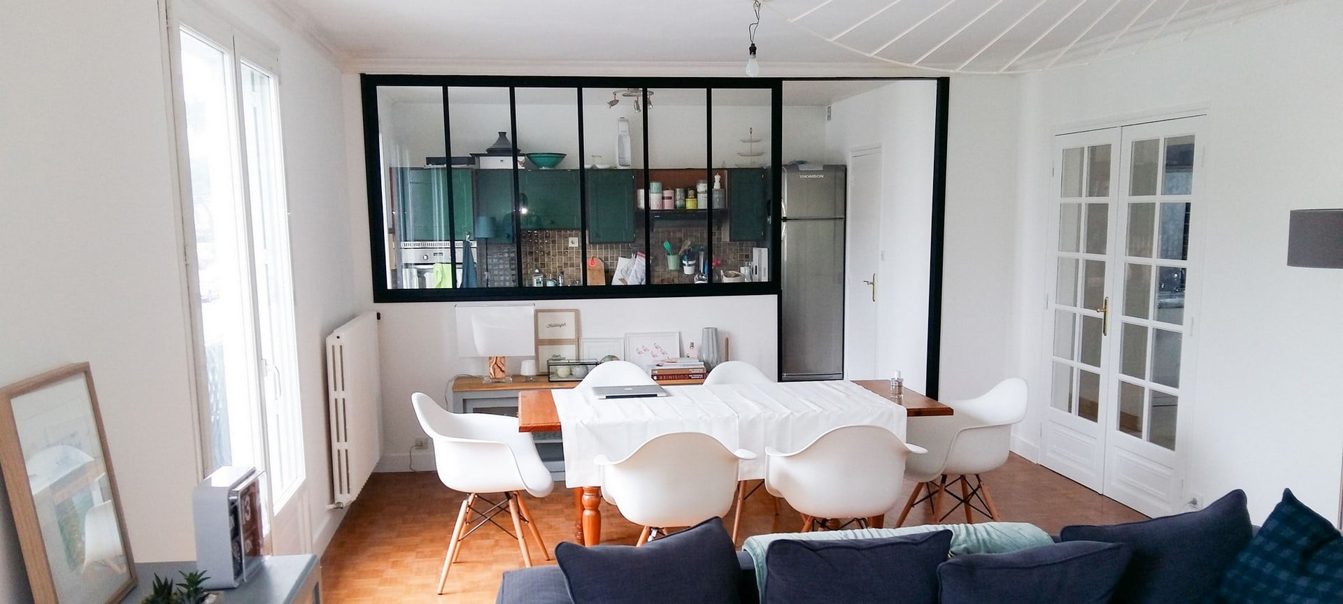 Ouverture entre une cuisine et un salon Adeco Breizh