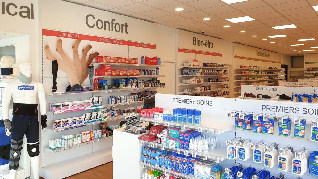 Mobilier métallique pharmacie Finistère