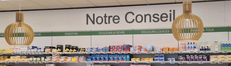 Communication intérieure pharmacie Concarneau